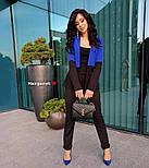 Женский двухцветный костюм: жакет и брюки (4 цвета), фото 9