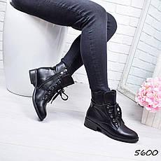 """Ботинки, ботильоны черные """"Brutal"""" эко кожа, повседневная, демисезонная, осенняя, женская обувь, фото 3"""