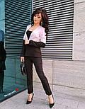 Женский двухцветный костюм: жакет и брюки (4 цвета), фото 10