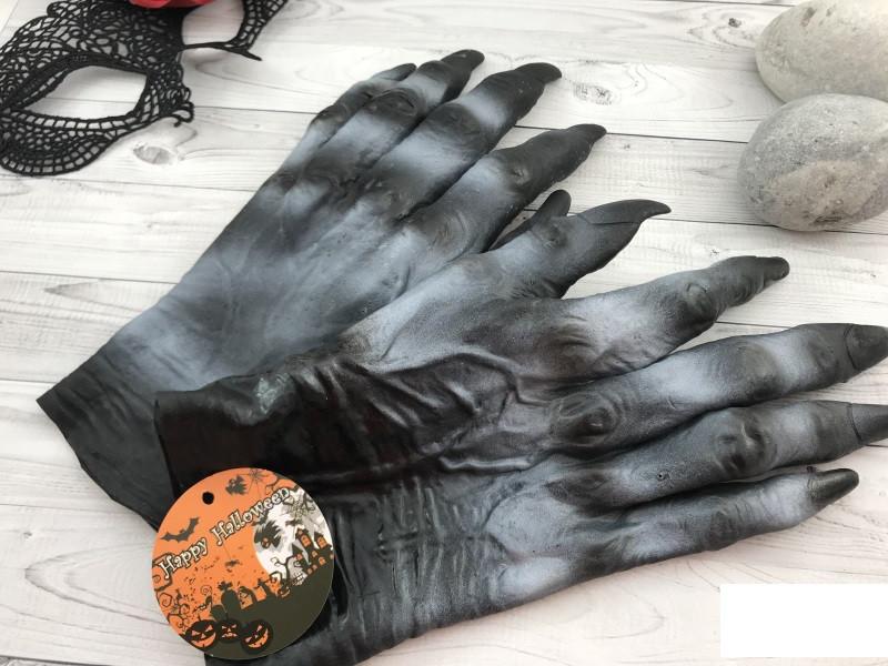 Прикол перчатки монстра резиновые Хэллоуин