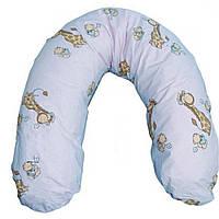 Подушка для кормления Womar (хлопок, рисунок, холлофайбер) голубой 43002