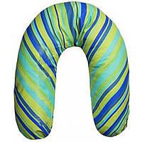 Подушка для кормления Womar ЕКО (полистирол) бирюзово-синие полоски 71001