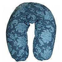 Подушка для кормления Womar ЕКО (полистирол) бирюзовый в цветы 71008