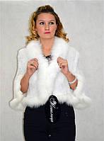 Накидка из белоснежной норки модель Снежная королева