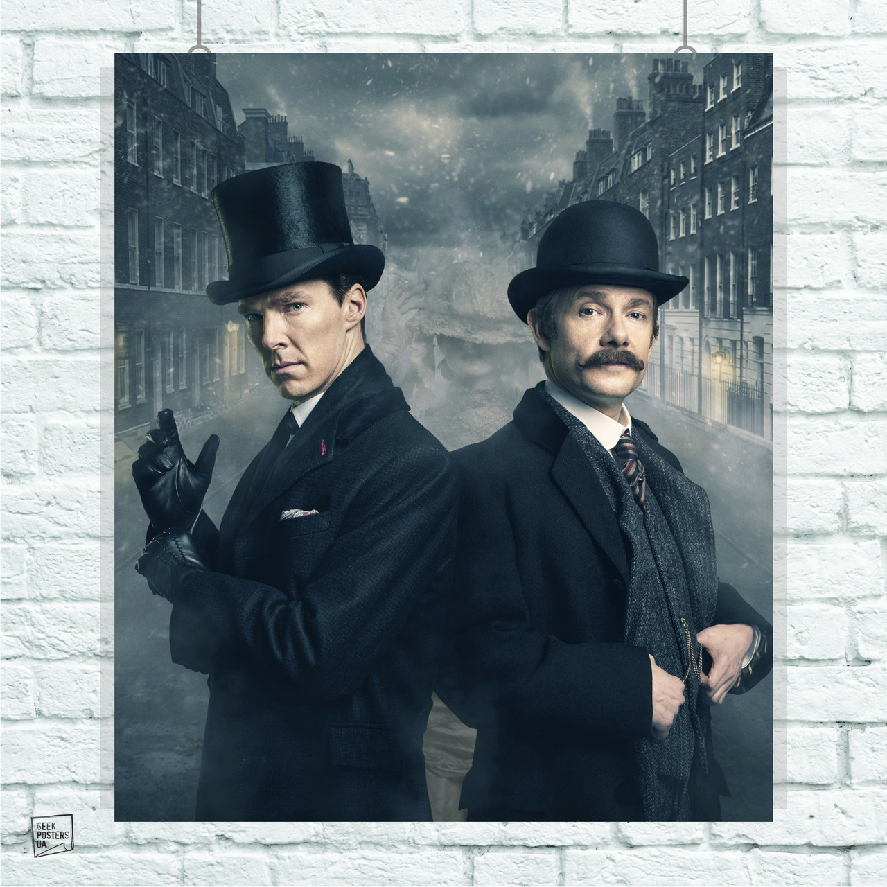 Постер Шерлок и Ватсон, Sherlock. Размер 60x51см (A2). Глянцевая бумага