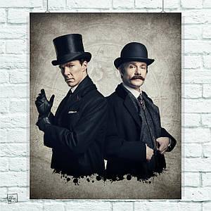 Постер Шерлок и Ватсон, Sherlock. Размер 60x49см (A2). Глянцевая бумага