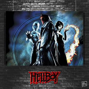 Постер Хеллбой, Hellboy. Размер 60x43см (A2). Глянцевая бумага