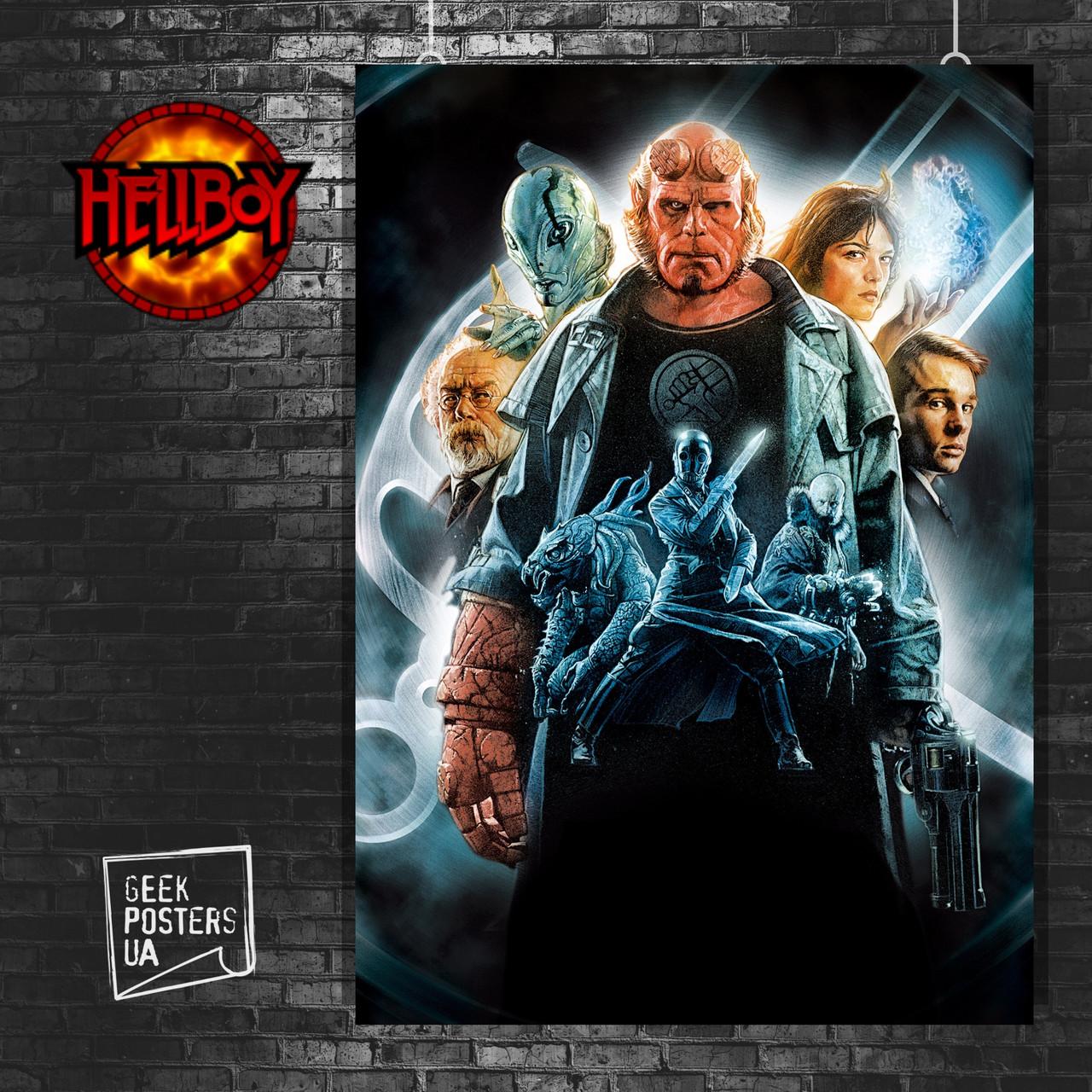Постер Хеллбой, Hellboy. Размер 60x42см (A2). Глянцевая бумага