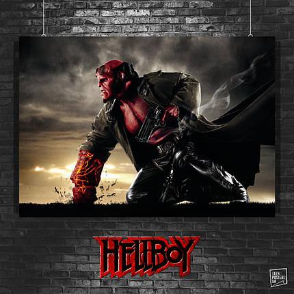 Постер Хеллбой, Hellboy. Размер 60x42см (A2). Глянцевая бумага, фото 2