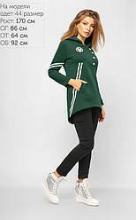 Худи стильный зеленого цвета