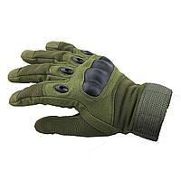 Тактические перчатки защитные с пальцами OAKLEY, олива, фото 1