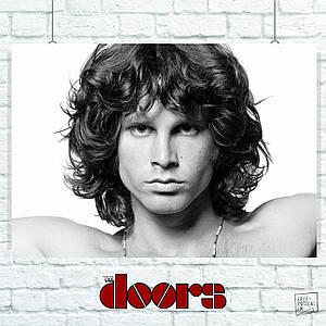 Постер The Doors, Jim Morrison. Размер 60x43см (A2). Глянцевая бумага