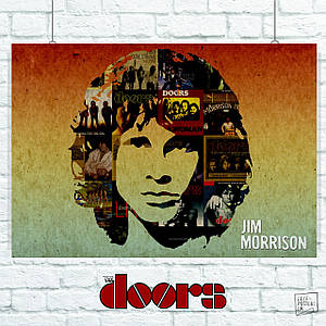 Постер The Doors, Jim Morrison, collage (60x85см)