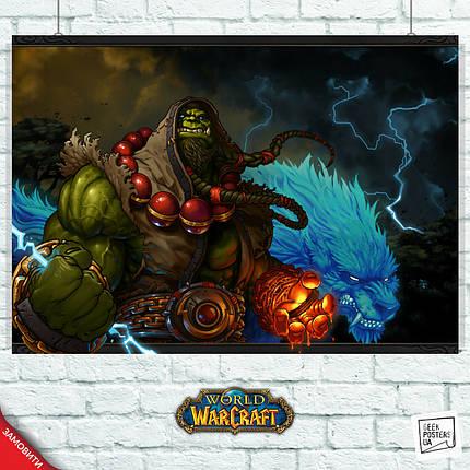 Постер Шаман, Тралл, World of Warcraft. Размер 60x43см (A2). Глянцевая бумага, фото 2