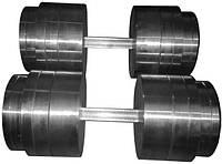 Гантелі складальні 2 * 50 кг (Загальна вага 100 кг) металеві домашні розбірні для будинку, фото 1