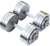 Гантели наборные 2*24 кг (Общий вес 48 кг) Металл (гантелі розбірні наборні разборные для дома дешёвые 24 кг)
