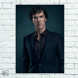 Постер Шерлок, Sherlock. Размер 60x42см (A2). Глянцевая бумага