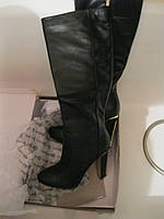 Сапоги женские 39.5 очень красивые стильные демисезонные черные