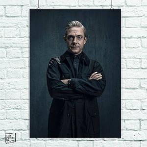Постер Ватсон, Sherlock. Размер 60x42см (A2). Глянцевая бумага