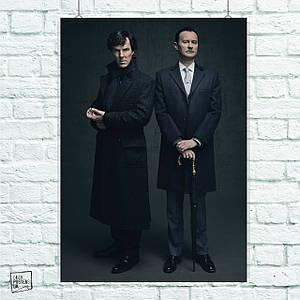 Постер Шерлок и Майкрофт, Sherlock. Размер 60x42см (A2). Глянцевая бумага