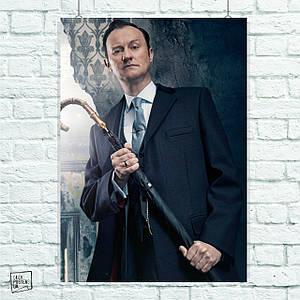Постер Майкрофт, Sherlock. Размер 60x42см (A2). Глянцевая бумага