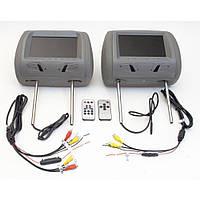 Комплект подголовников с монитором и DVD-проигрывателем KLYDE Ultra 7725HD gray (серый), фото 1