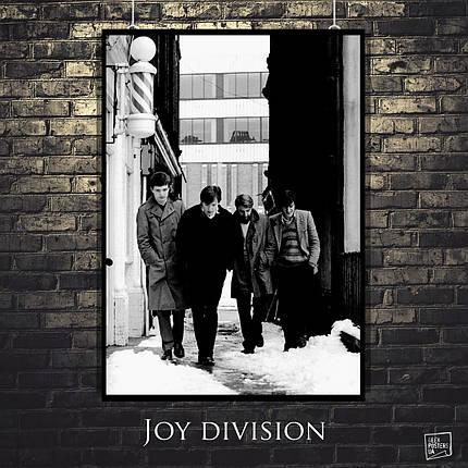 Постер Joy Division, ретрофото, на улице. Размер 60x42см (A2). Глянцевая бумага, фото 2