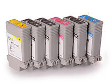 Набор совместимых картриджей Ocbestjet PFI-102 для Canon iPF605/710, CMYKMBk, 6x130 мл