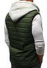 Стёганая мужская безрукавка с капюшоном Бордовый, фото 3