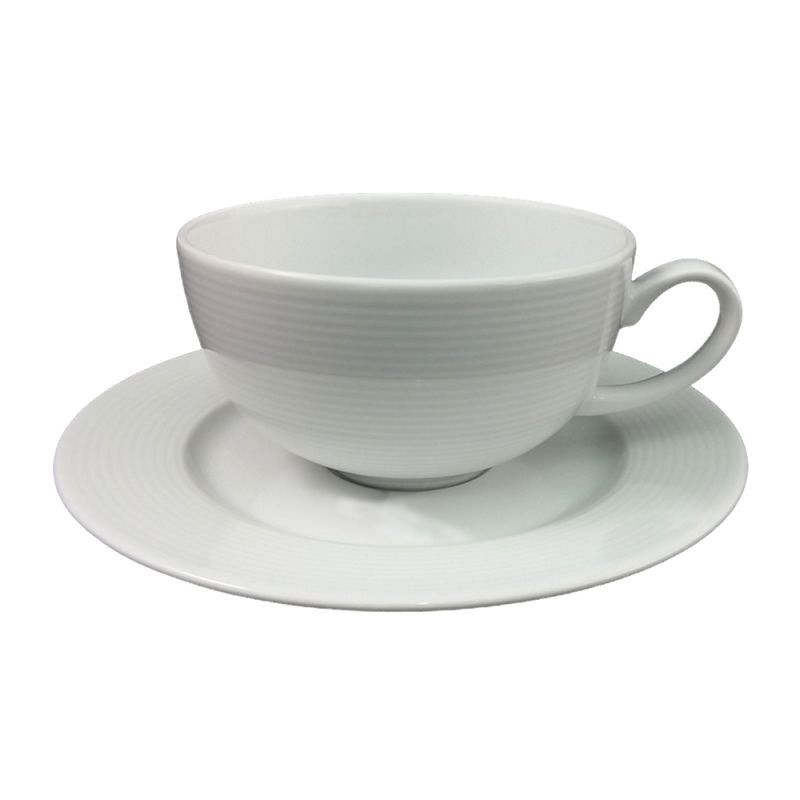 Чашка 250 мл. фарфоровая, белая Eto, Lubiana (блюдце 204-0316)