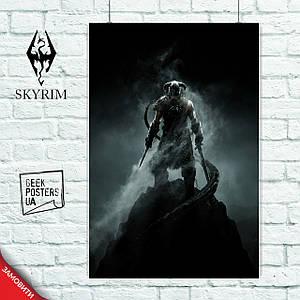 Постер Skyrim, Скайрим. Размер 60x42см (A2). Глянцевая бумага