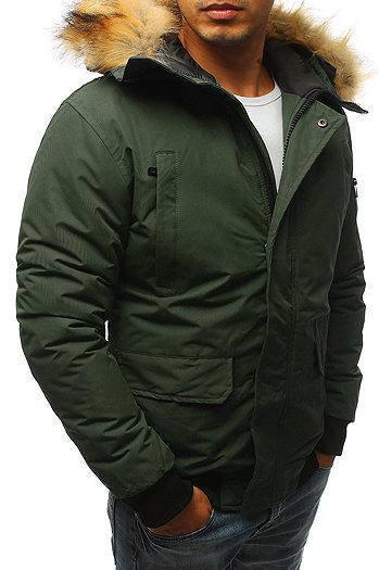 Мужская куртка бомбер зимняя Хаки