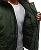 Мужская куртка бомбер зимняя Хаки, фото 4