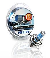 Philips CrystalVision 4300K / тип ламп Н4 / комплект 2шт .+ W5W