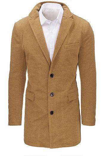 Мужское  пальто на пуговицах №3 Карамель