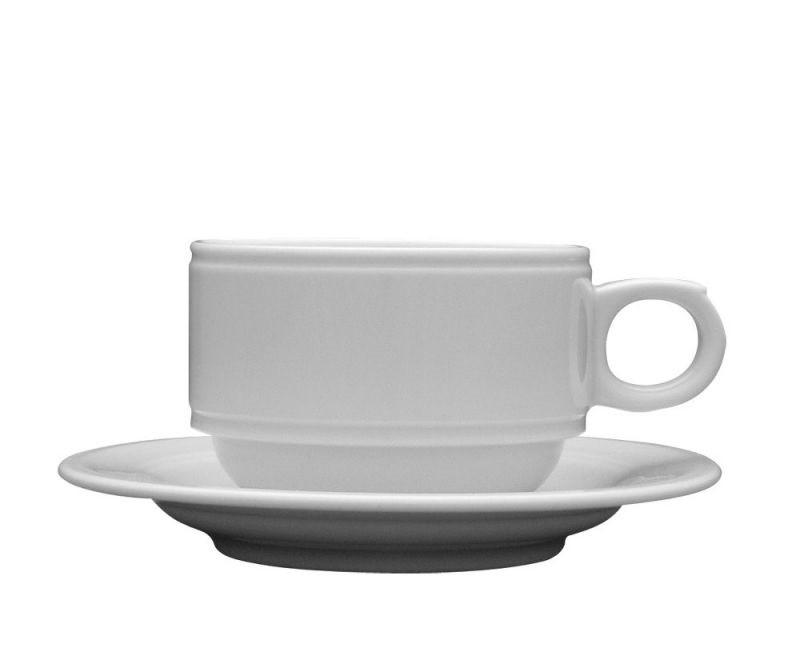 Чашка 220 мл. фарфоровая, белая Neptun, Lubiana (блюдце 204-2412)