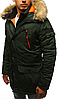Парка спортивная зимняя мужская №5 Зелёный, фото 4