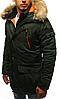 Парка спортивная зимняя мужская №5 Черный, фото 5