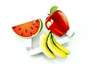 Набор декоративных прищепок Яблоко Банан Арбуз 6 шт
