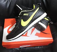 Мужские кроссовки  Nike Zoom MD Runner 2, реплика Nike черно-салатовый, фото 1