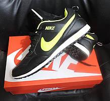 Мужские кроссовки  Nike Zoom MD Runner 2, реплика Nike черно-салатовый