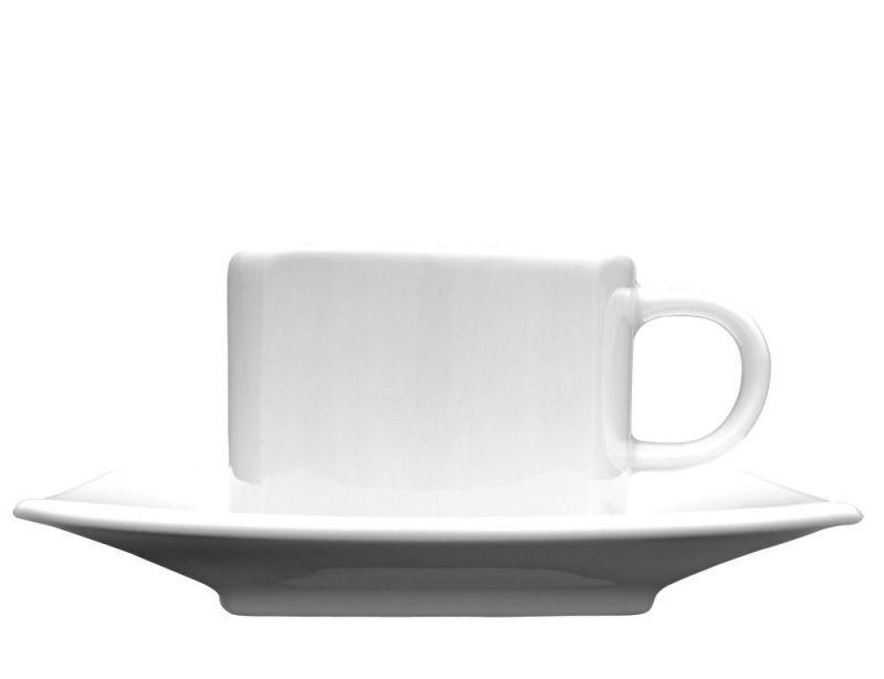 Чашка 80 мл. фарфоровая, белая espresso Hotel Victoria, Lubiana (блюдце 204-2871)