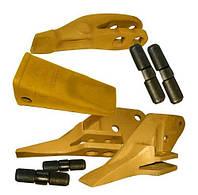 Коронки, зубъя, адаптера с фиксаторами и пальцами, ножи разных производителей