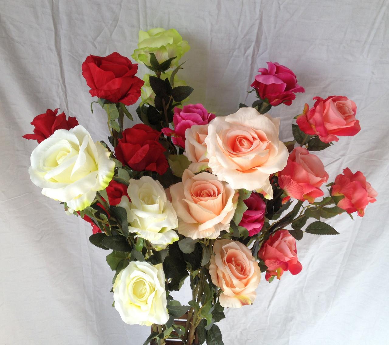 Роза искусственная 5 голов