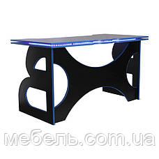 Геймерский стол со светодиодной подсветкой Barsky Game LED Blue HG-04/LED, фото 2