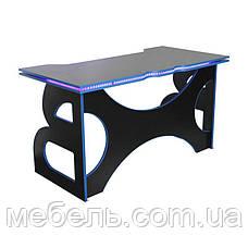 Геймерский стол со светодиодной подсветкой Barsky Game LED Blue HG-04/LED, фото 3