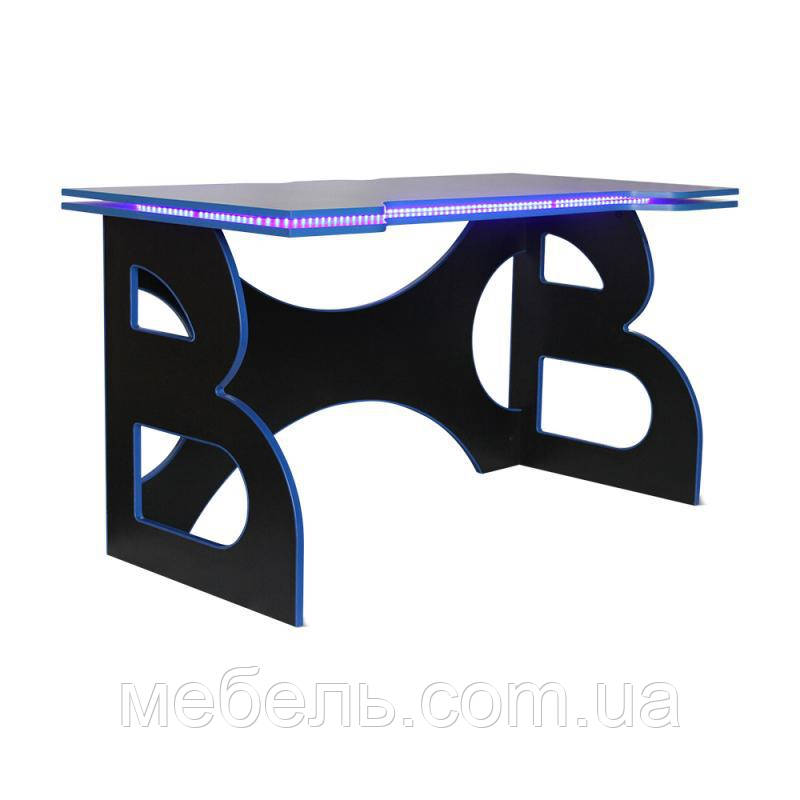 Геймерский стол со светодиодной подсветкой Barsky Game LED Blue HG-04/LED