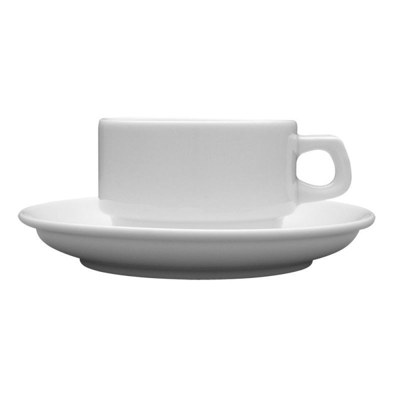 Чашка 90 мл. фарфоровая, белая espresso Kaszub/Hel, Lubiana (блюдце 204-0613)