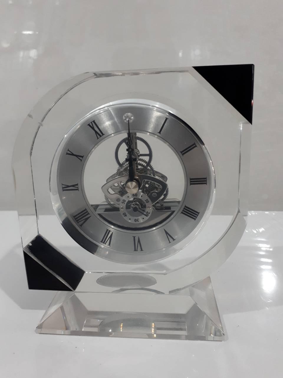 37fcbafd28aa Стеклянные настольные интерьерные часы