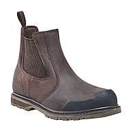 Ботинки кожаные мужские защитные (Англия). Фирменные ботинки Челси из кожи лошади. Оригинал. , фото 1